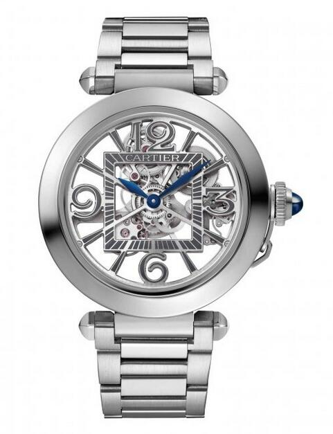 Swiss replica watches are clear with blue hands.